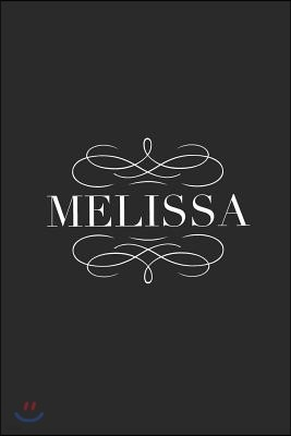Melissa: Personalized Name Blank College Ruled 6x9 Writing Notebook Planner Composition Diary for Girls or Women (Makes a Great