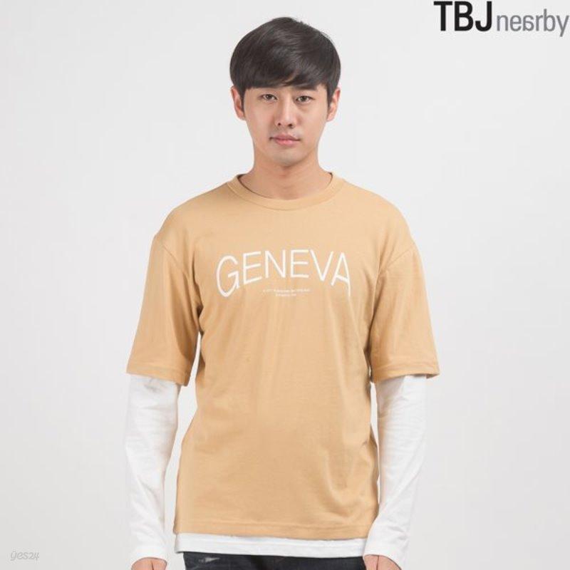 [TBJ]유니 16수 소매 레이어드 루즈핏 티셔츠(T163TS090P)