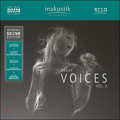 Inakustik 레이블 오디오 테스트용 보컬 사운드 3집 (Great Voices Vol.3) [2LP]