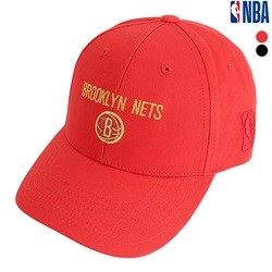 [NBA]BKN NETS 돌반짝이 아플리케자수 HARD CURVED CAP(N195AP475P)