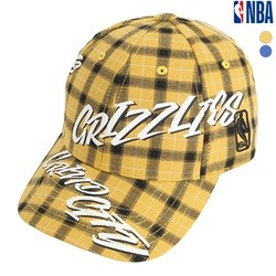 [NBA]MEM GRIZZLIES 화이트 레터링 체크 HARD CURVED CAP(N195AP431P)