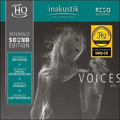 Inakustik 레이블 오디오 테스트용 보컬 사운드 3집 (Great Voices Vol.3) [UHQCD]