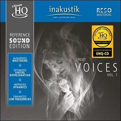 Inakustik 레이블 오디오 테스트용 보컬 사운드 1집 (Great Voices Vol.1)