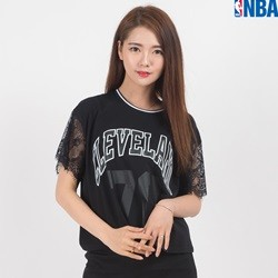 [NBA]CLE CAVALIERS 소매LACE CROP TS (N162TS706P)