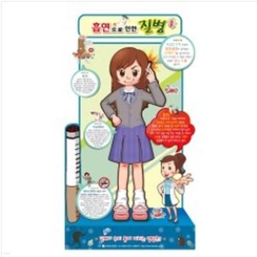 보건교구 흡연으로인한질병 등신대 (여성) KIM3-124