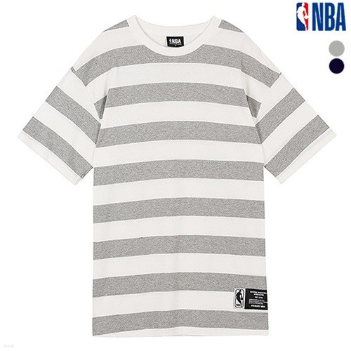 [NBA]NBA WIDE STRIPE LOOSE FIT TS (N162TS340P)