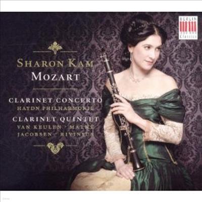 모차르트 : 클라리넷 협주곡 A장조, 클라리넷 5중주 A장조 (Mozart : Clarinet Concerto & Quintet) (Digipack) - Sharon Kam