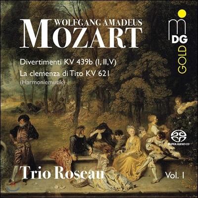 Trio Roseau 모차르트: 목관 트리오 연주집 - 디베르티멘토 K489b 중 1, 2, 5번, `티토의 자비` 모음곡