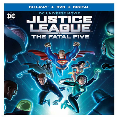 Justice League Vs The Fatal Five (저스티스 리그 대 더 페이털 파이브) (2019) (한글무자막)(Blu-ray + DVD + Digital)