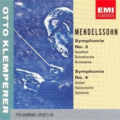 Otto Klemperer / Mendelssohn : Symphonies Nos. 3 & 4 (수입/CDM7638532
