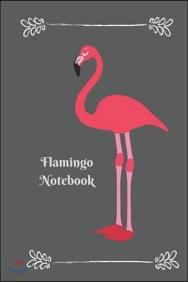 Flamingo Notebook: Pink Flamingo 6 X 9 Blank Lined Writing Composition Notebook Journal, 110 Pages, Great Gift Idea