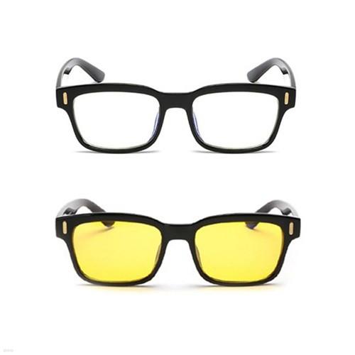 블루라이트차단 청광안경 보안경+안경주머니 - 클래식 스타일