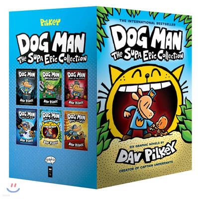 Dog Man #1-6 : The Supa Epic Collection : 도그맨 원서 하드커버 6종 박스 세트