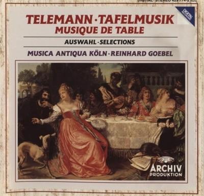 TELEMANN TAFELMUSIK -AUSWAHL / MUSICA ANTIQUA KOLN / GOEBEL