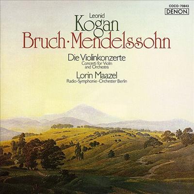 멘델스존: 바이올린 E 단조 & 브루흐: 바이올린 협주곡 1번 (Mendelssohn: Violin E minor Concerto & Bruch: Violin Concerto No.1) (Blu-spec CD)(일본반) - Leonid Kogan