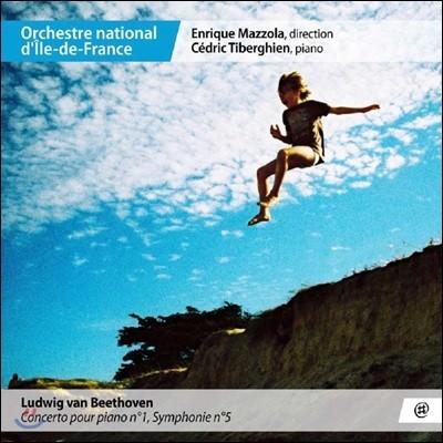Cedric Tiberghien / Enrique Mazzola 베토벤: 피아노 협주곡 1번, 교향곡 5번