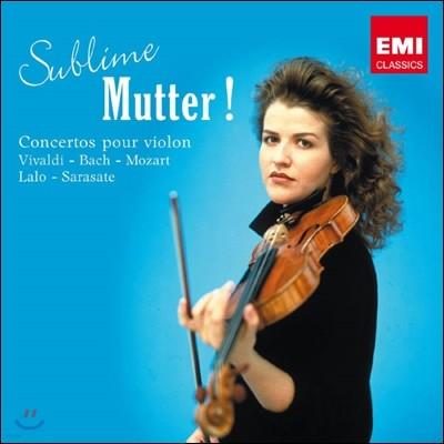 안네-소피 무터 바이올린 협주곡 모음집 (Sublime Mutter!)