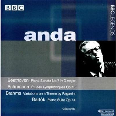 베토벤, 슈만, 브람스, 바르톡 : 피아노 작품집 (Beethoven, Schumann, Brahms, Bartok : Piano Works) - Geza Anda