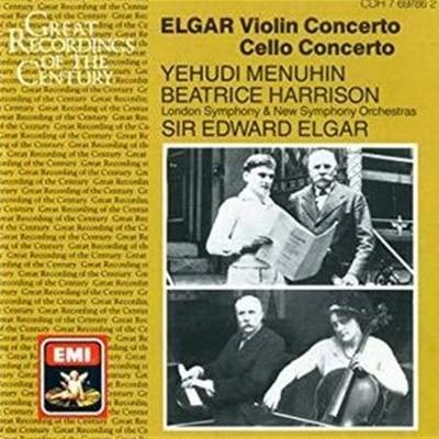 Yehudi Menuhin, Beatrice Harrison / Elgar : Violin Concerto and Cello Concerto (수입/CDH7697862)