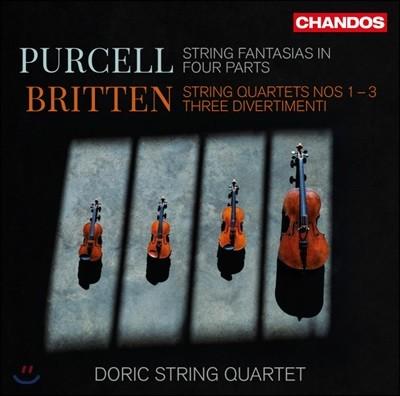 Doric String Quartet 퍼셀: 환상곡 / 브리튼: 현악 사중주 1-3번, 3개의 디베르티멘토 (Purcell: Fantazias / Britten: String Quartets, Three Three Divertimenti)