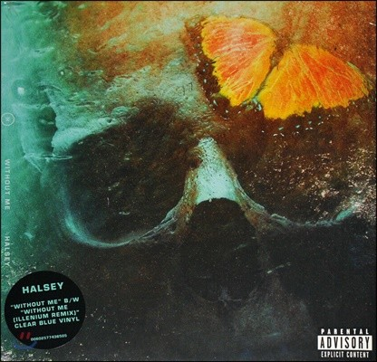 Halsey (할시) - Without Me (Explicit) [7인치 싱글 투명 블루 컬러 LP]