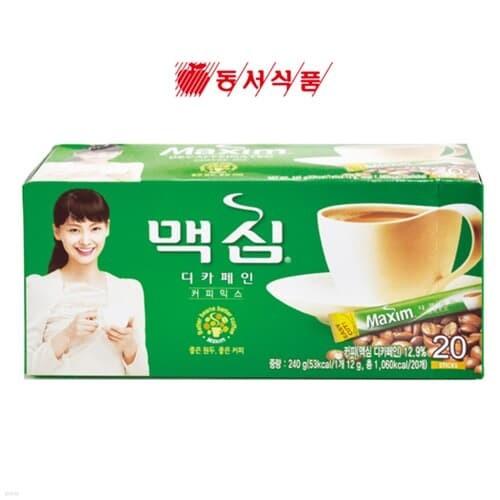 [맥심] 커피믹스 디카페인 12gx20T