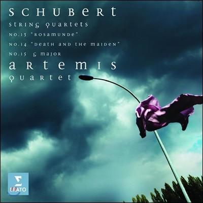 Artemis Quartet 슈베르트: 현악 사중주 '로자문데', '죽음과 소녀' - 아르테미스 콰르텟 (Schubert: String Quartets 'Rosamunde', 'Death and the Maiden' & No.15)