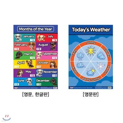 유아 벽보 영어 : Months of the Year, Today's Weather