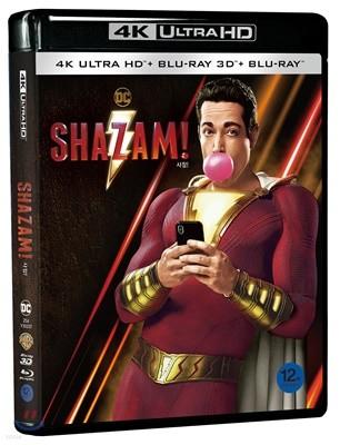 샤잠! (3Disc 4K UHD + 3D + 2D 초도한정) : 블루레이