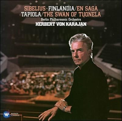 Herbert von Karajan 시벨리우스: 교향시 작품집 (Sibelius: Finlandia, En Saga, Tapiola, The Swan of Tuonela) [2LP]