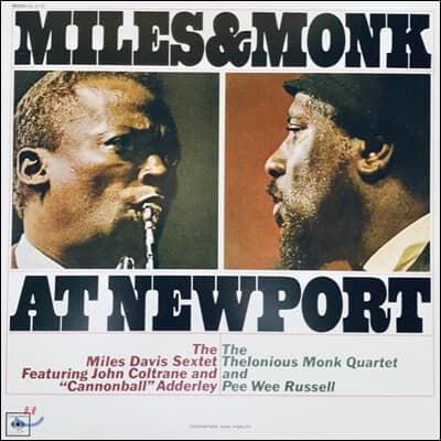 Miles Davis Sextet / Thelonious Monk Quartet (마일즈 데이비스 색스텟 / 텔로니어스 몽크 쿼르텟) - Miles & Monk At Newport [LP]