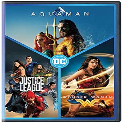 AQUAMAN / Justice League / Wonder Woman (아쿠아맨 / 저스티스 리그 / 원더 우먼)(지역코드1)(한글무자막)(DVD)
