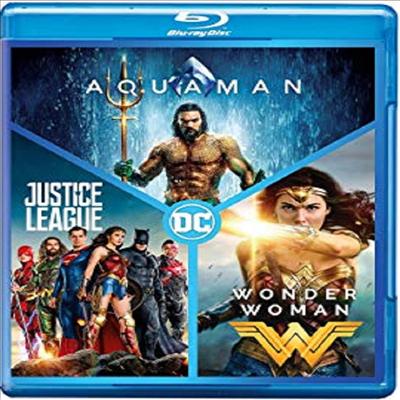 AQUAMAN / Justice League / Wonder Woman (아쿠아맨 / 저스티스 리그 / 원더 우먼)(한글무자막)(Blu-ray)