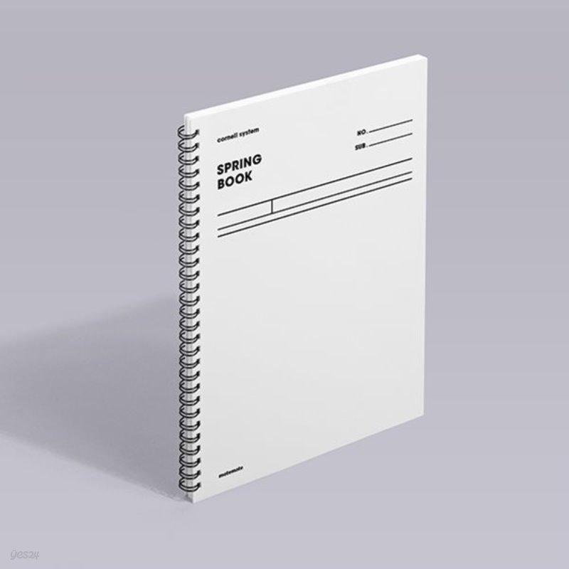 [모트모트] 스프링북 오리지널 - 화이트 (코넬시스템)