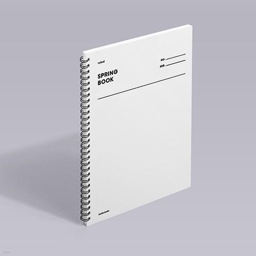 [모트모트] 스프링북 오리지널 - 화이트 (룰드)