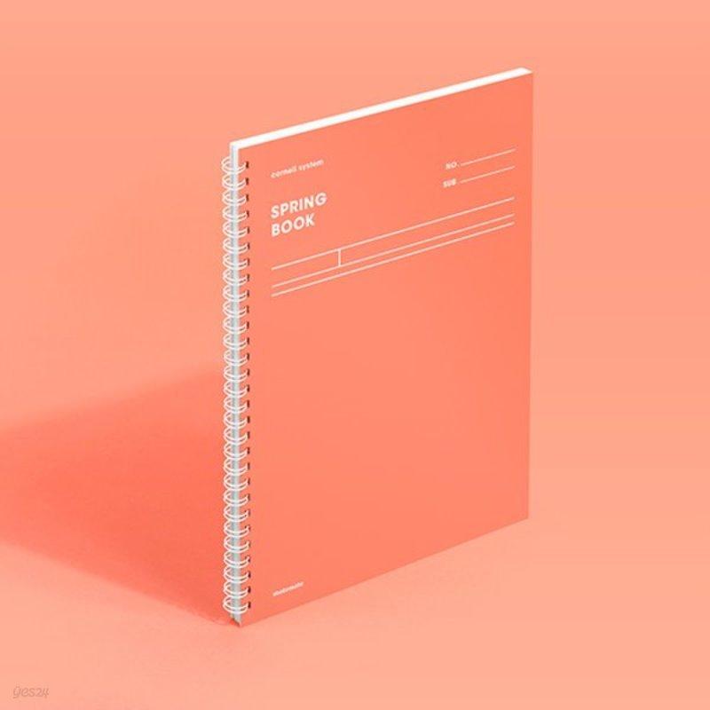 [모트모트] 스프링북 컬러칩 - 리빙코랄 (코넬시스템)