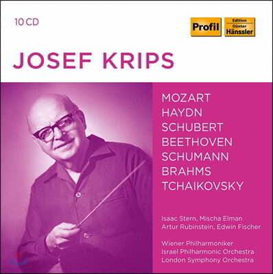 요제프 크립스 지휘 모음집 (Josef Krips counducts Mozart / Haydn / Beethoven / Schubert / Tchaikovsky etc)