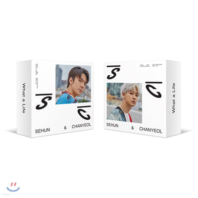 세훈&찬열 (EXO-SC) - 미니앨범 1집 : What a life [스마트 뮤직 앨범(키노 앨범)][커버 2종 중 1종 랜덤 발송]