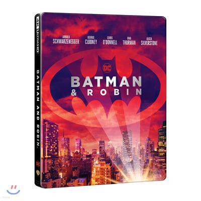 배트맨 앤 로빈 (2 Disc 4K UHD 스틸북, 한정수량) : 블루레이