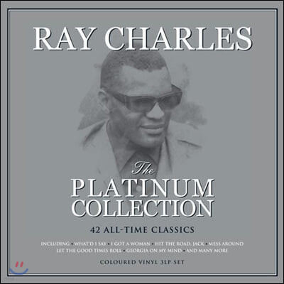 Ray Charles (레이 찰스) - The Platinum Collection [화이트 컬러 3LP]