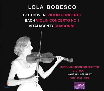 Lola Bobesco 베토벤 & 바흐: 바이올린 협주곡 / 비탈리: 샤콘느 - 롤라 보베스코