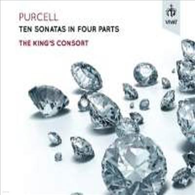 퍼셀: 4성부의 10개의 소나타 (Purcell: Ten Sonatas in Four Parts)(Digipack)(CD) - King's Consort