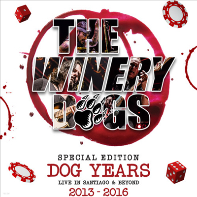 Winery Dogs - Dog Years - Live In Santiago & Beyond 2013-2016 (Deluxe Edition)(Digipack)(Blu-ray+DVD+3CD)(Blu-ray)(2017)