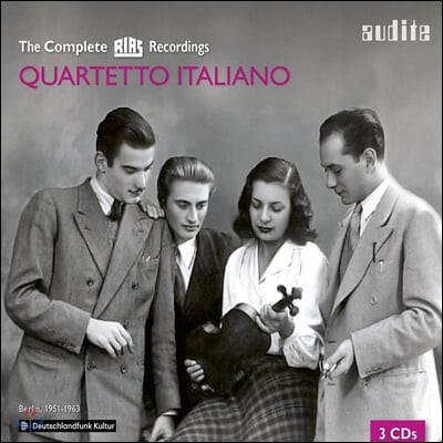 이탈리아 사중주단 RIAS 레코딩 전집 (Quartetto Italiano The Complete Rias Recording)