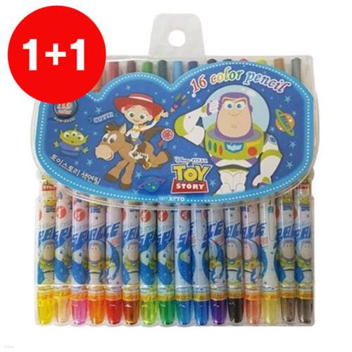 [1+1]디즈니 토이스토리 16색 색연필