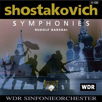 쇼스타코비치 : 교향곡 전집 (Shostakovich : Complete Symphonies) (11 For 5) - Rudolf Barshai