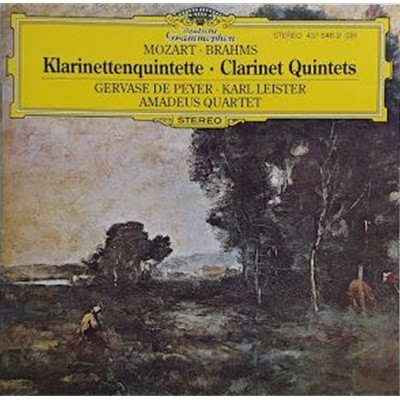 Brahms Mozart Clarinet Quintet Leister Amadeus Quartet