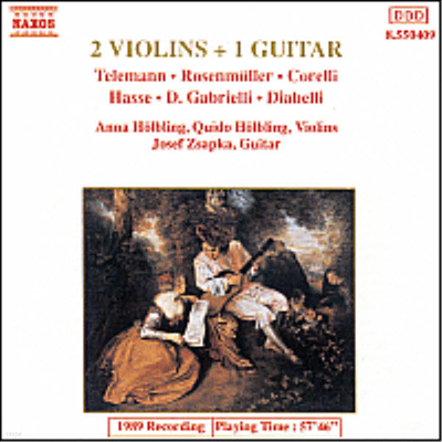 두 대의 바이올린과 한 대의 기타 (2 Violins & 1 Guitar Works) - Anna Holbling