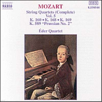모차르트 : 현악 사중주 7-9번, 22번 '프러시안 2번' (Mozart : Complete String Quartet Vol.5 - Nos.7-9, No.22 'Prussian No.2') - Eder Quartet
