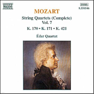 모차르트 : 현악 사중주 10, 11, 15번 (Mozart : Complete String Quartet Vol.7 - No.10 K.170, No.11 K.171, No.15 K.421) - Eder Quartet